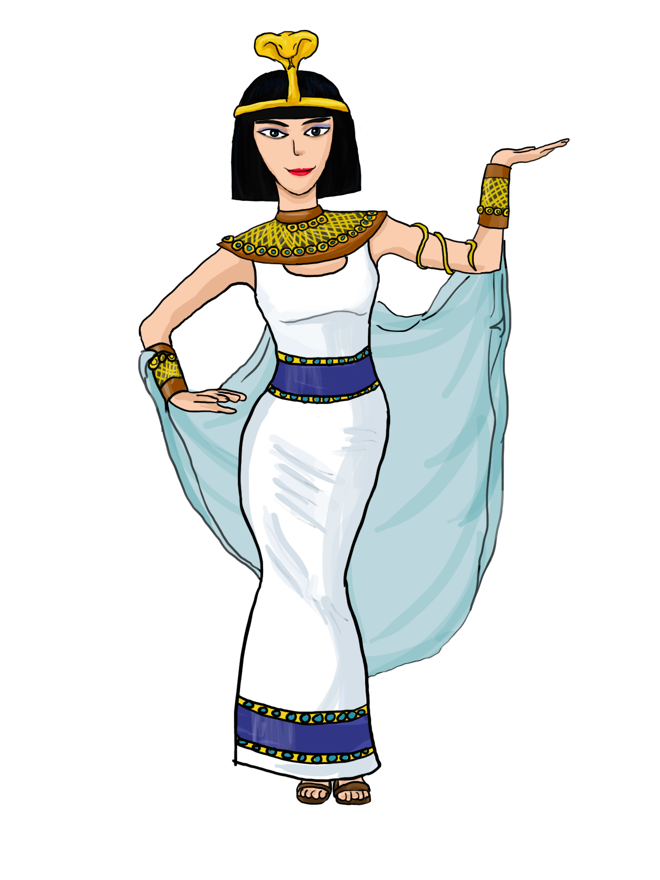 Egyptian Queen clipart egyptian woman Art Cleopatra Clip  Free