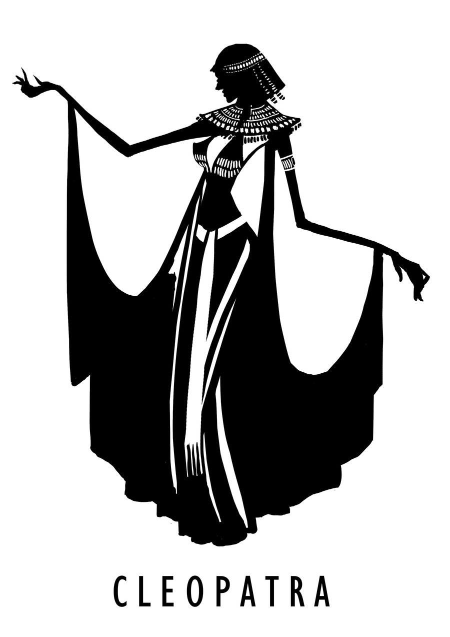 Cleopatra Clipart Black And White And  Cleopatra Nefertiti favourites