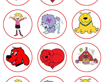 Clifford clipart birthday Etsy red or cupcake the