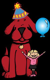 Clifford clipart birthday Carte: a Celebration Week! la