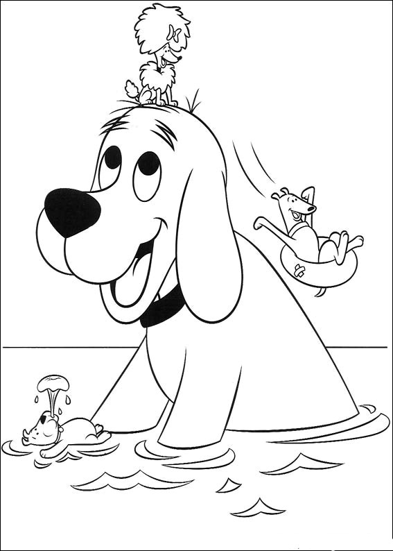Clifford clipart coloring page A Z 2 big Animations