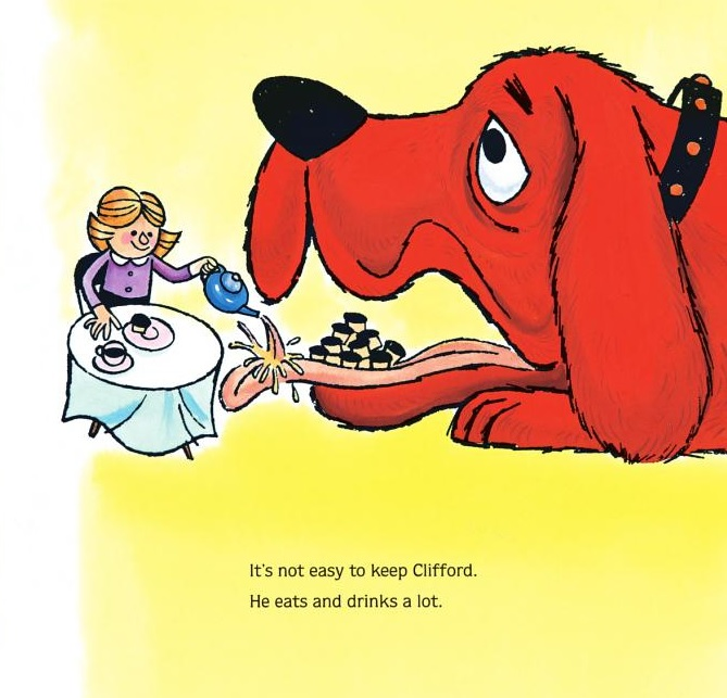 Clifford clipart yellow dog Research private been  food