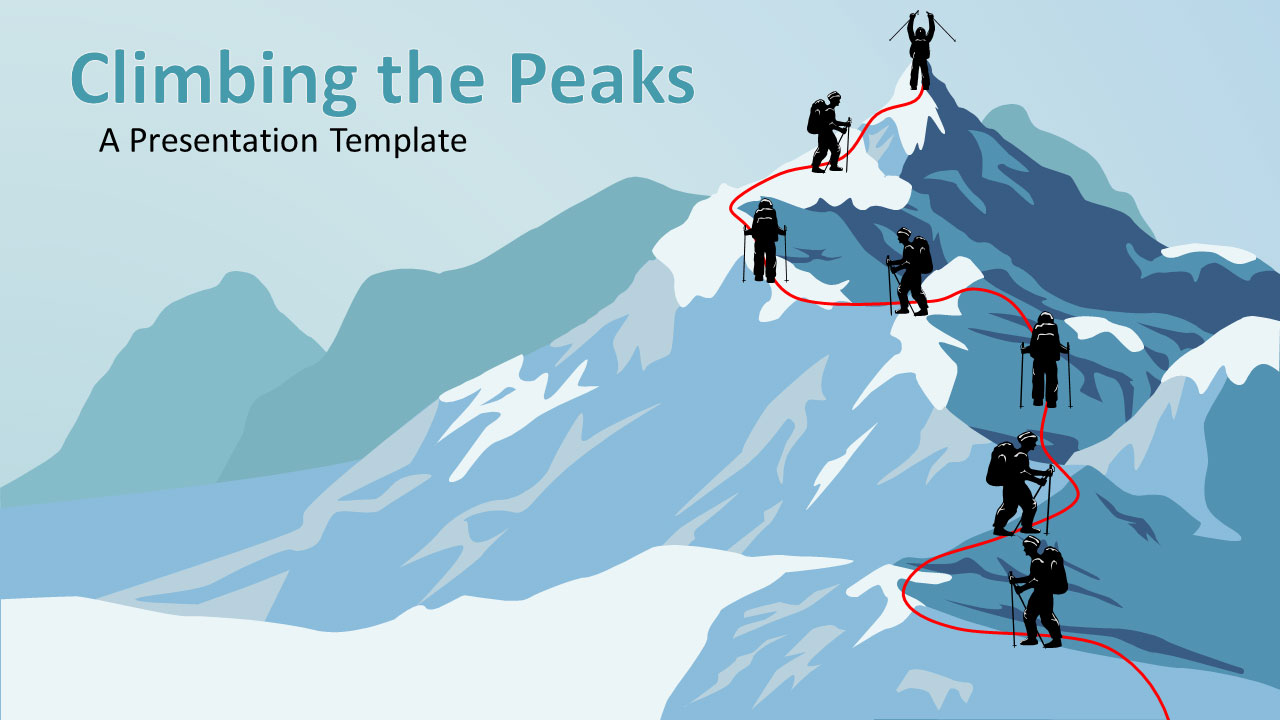 Summit clipart climb mountain The Template from A Mountain