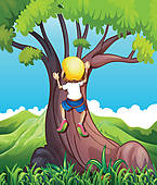 Climbing Tree clipart Climbing girl · Art Free