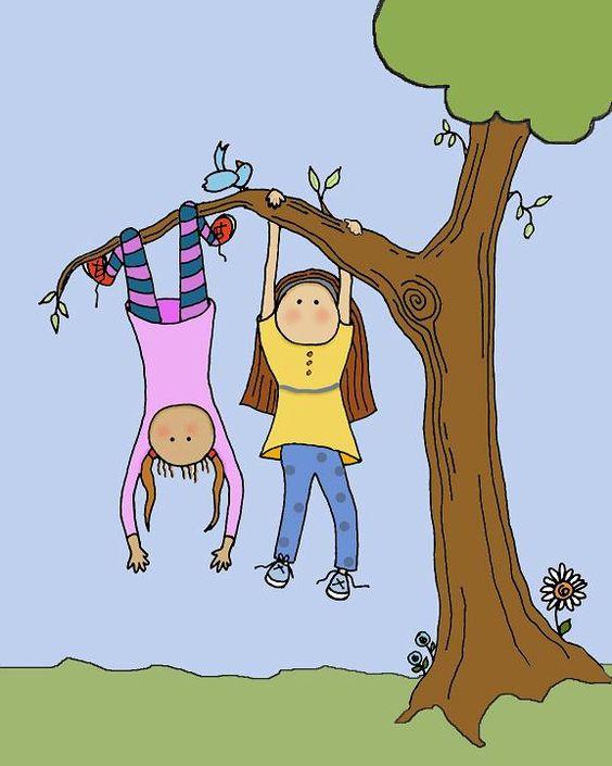 Climbing Tree clipart Trees Art Climbing Art Clipart