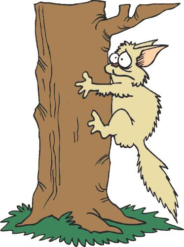 Tree clipart cat #1