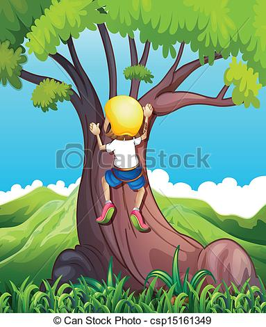 Child clipart banner Tree Girl climbing climbing clipart