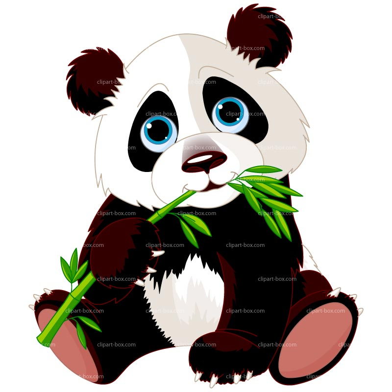 Panda clipart panda bamboo Vector PANDA design vector Royalty