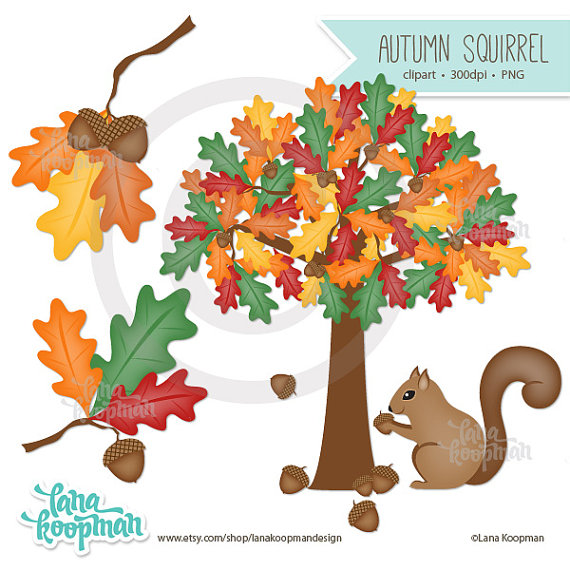 Tree clipart squirrel #6