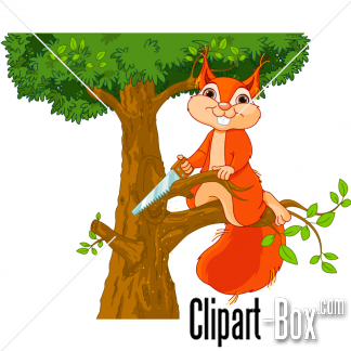 Tree clipart squirrel #3