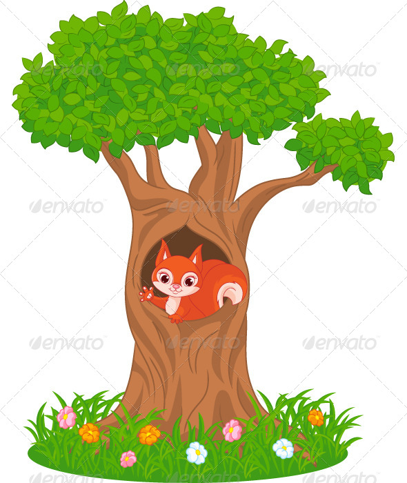 Tree clipart squirrel #2