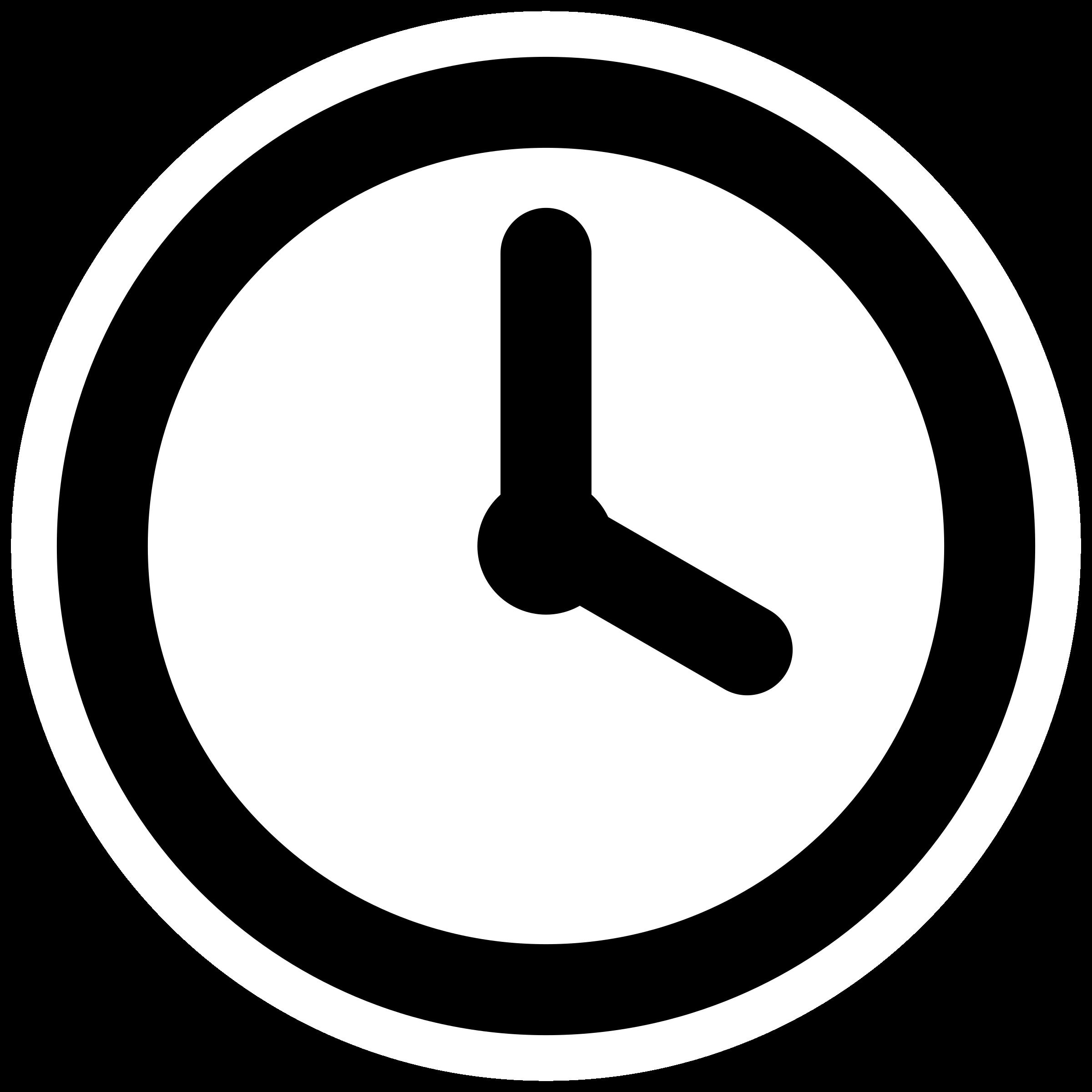 Clock clipart Clock mono clock mono Clipart