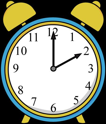 Colouful clipart alarm clock #5