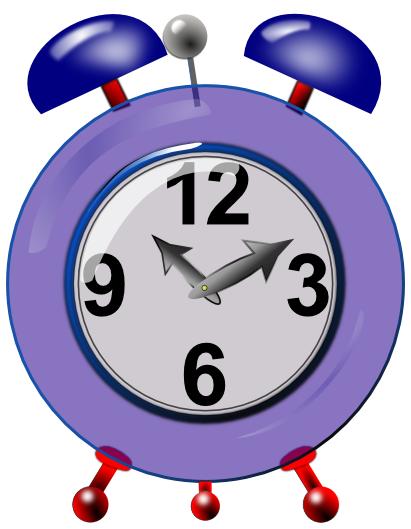 Colouful clipart alarm clock #3