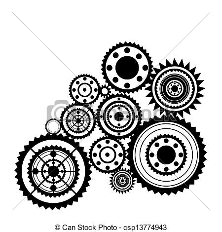 Clockwork clipart Sprockets abstract  EPS sprockets