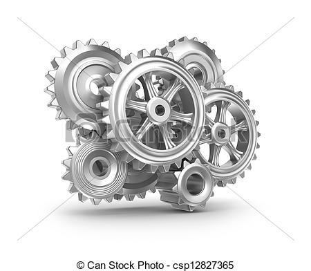 Clockwork clipart mechanical engineering Cogs gears Illustration of Clockwork