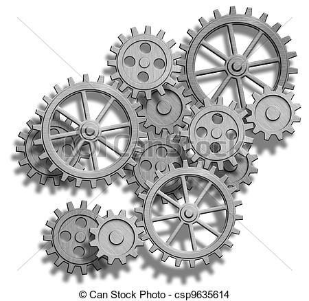Drawn gears clockwork #7