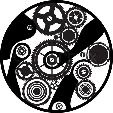 Drawn gears clockwork #8