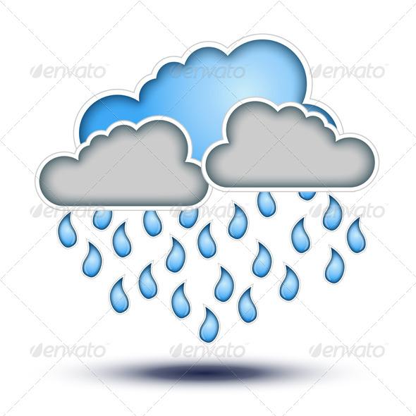 Penguin clipart rain Weather Drops Blue for Diaframmaphoto