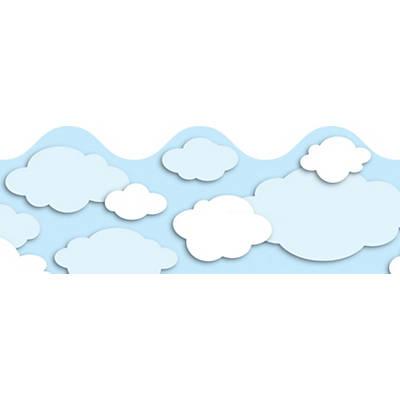 Clouds clipart carson dellosa Quill Carson Clouds Border Dellosa