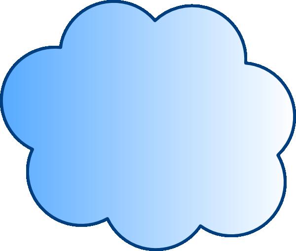 Clouds clipart cloud shape Visio  shape blue cloud]