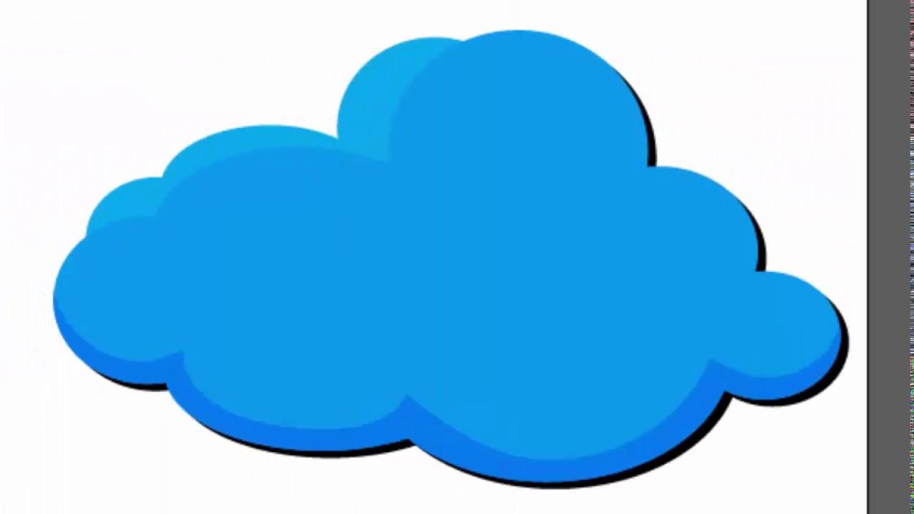 Clouds clipart cloud shape Create to Illustrator cs6 cloud