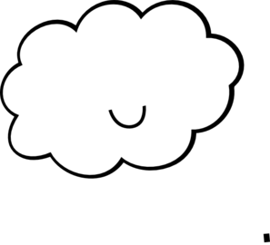 Clouds clipart cute Vector art Cloud online Clip