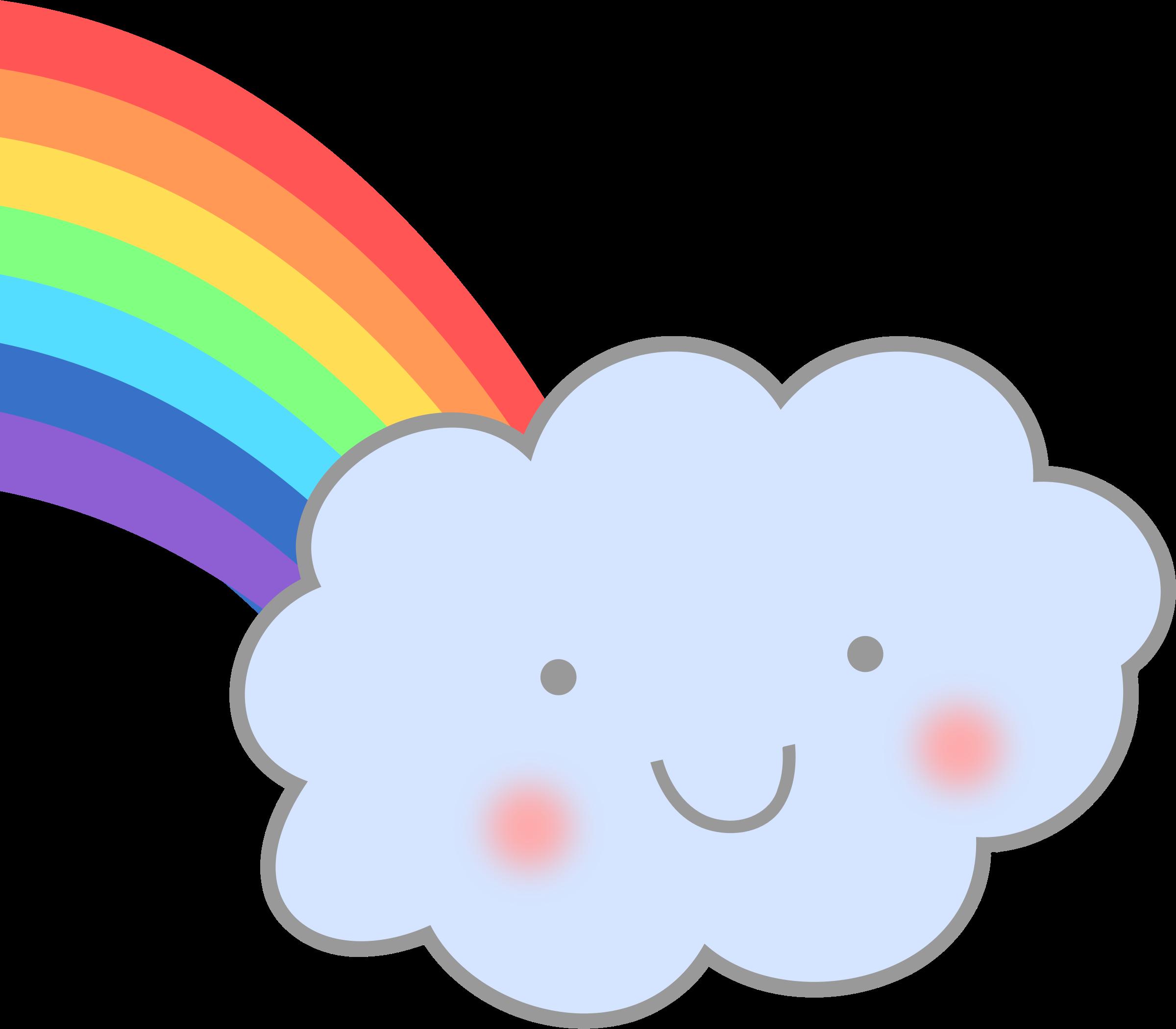 Clouds clipart cute cartoon Rainbow with Clipart Cute Cloud