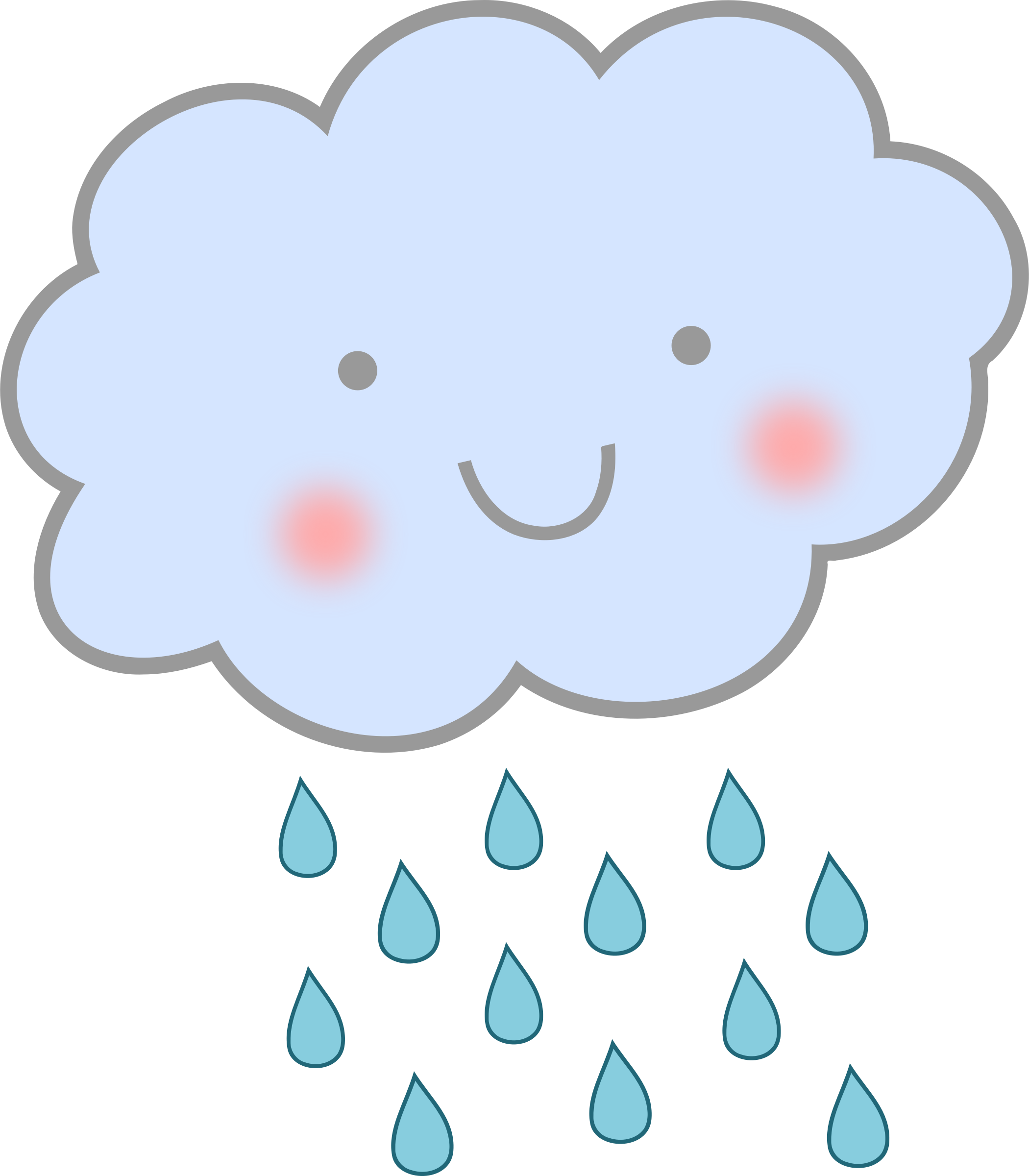 Clouds clipart cute Png Weather Rain pics Rain