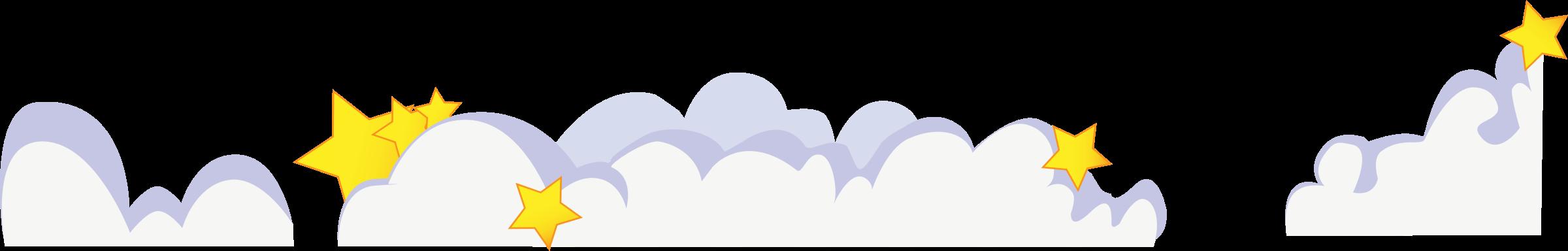 Clouds clipart cute cartoon Clouds clouds stars stars Clipart