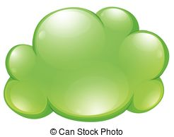 Clouds clipart green Cloud on of  Vector