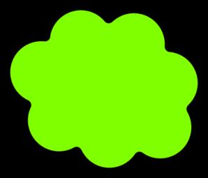 Clouds clipart green Art Greencloud Clker at com