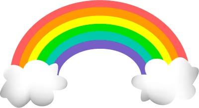 Drawn rainbow vector black and white Clipart Free Rainbow Clipartion com