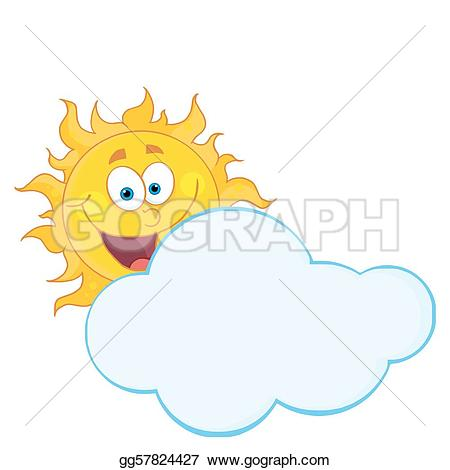 Clouds clipart happy sun Behind Clipart gg57824427 smiling hiding