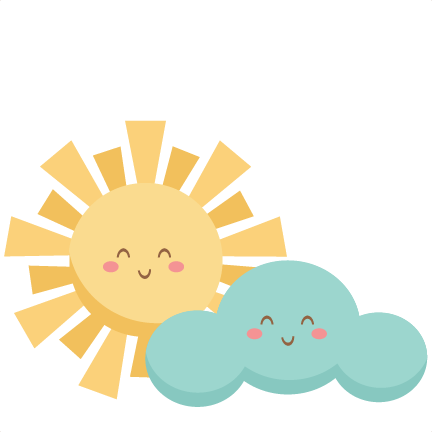 Clouds clipart happy sun  and Happy svgs Sun