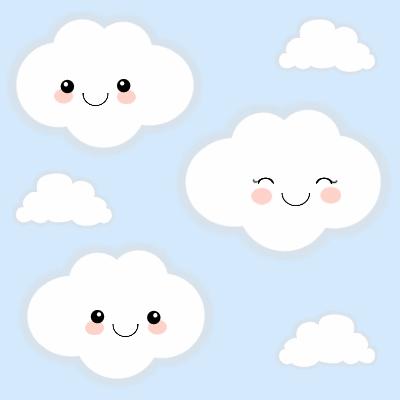 Clouds clipart kawaii Oh  clouds patterns kawaii