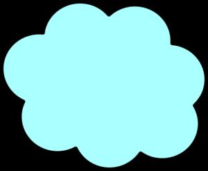 Clouds clipart light blue Art Cloud Clker vector Blue