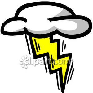 Clouds clipart lightning bolt With Cloud Free Clipart Clipart