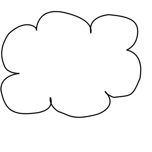 Clouds clipart line art Free Images Clipart Cloud Clipart