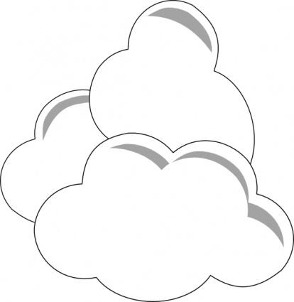 Clouds clipart line art Outline Clipart Outline Sunny Clip