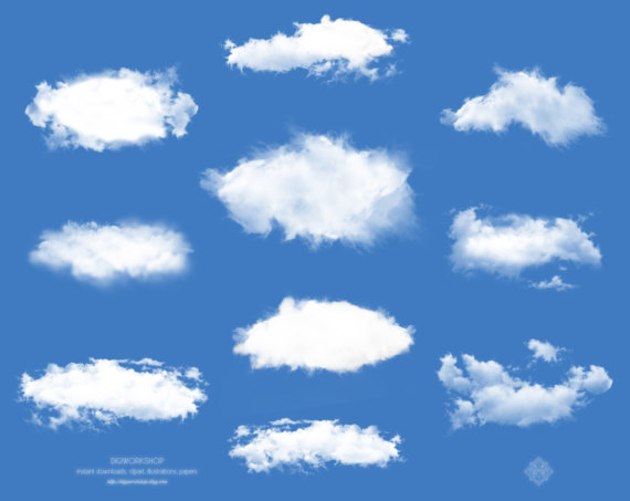 Clouds clipart real Clouds
