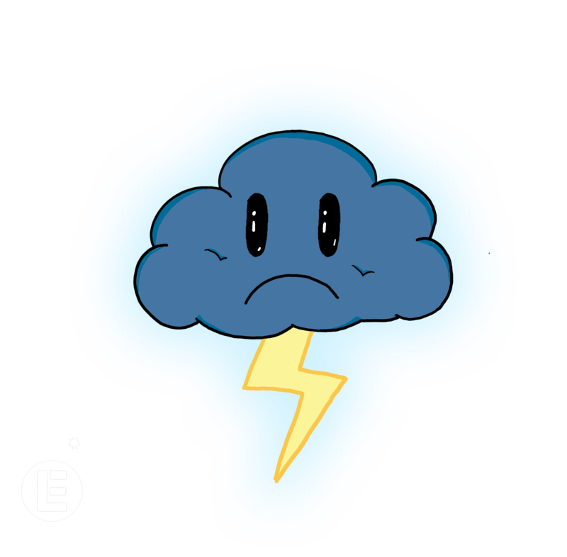 Clouds clipart sad By Cloud Sad Thunder on