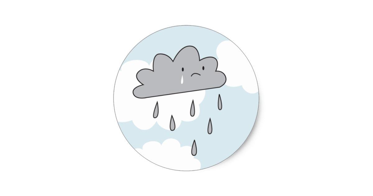 Clouds clipart sad Classic Cloud Sticker Sad