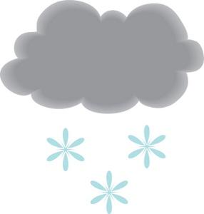 Snowfall clipart snow cloud #15