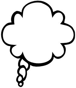 Clouds clipart text Bubbles  text bubble Tekstballonnen