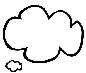 Clouds clipart text  png bubble right bubble