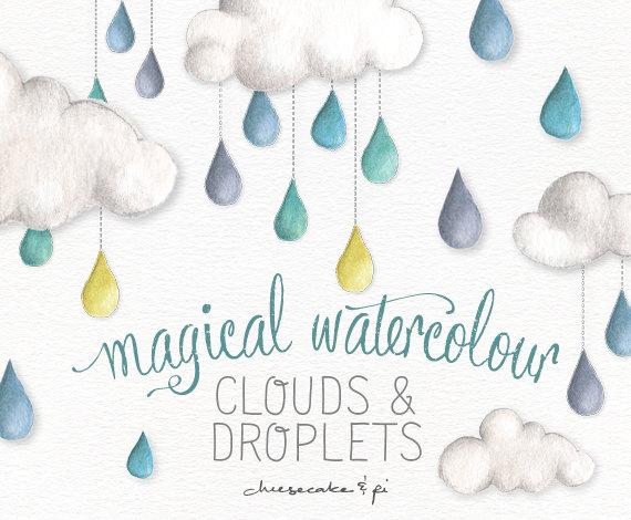 Clouds clipart whimsical Rain cloud clouds art commercial
