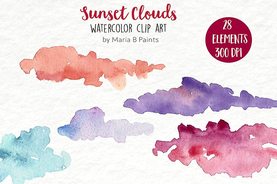 Clouds clipart whimsical Clouds Art  Clip Photos