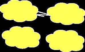 Clouds clipart yellow Vector Clker art Clip Art