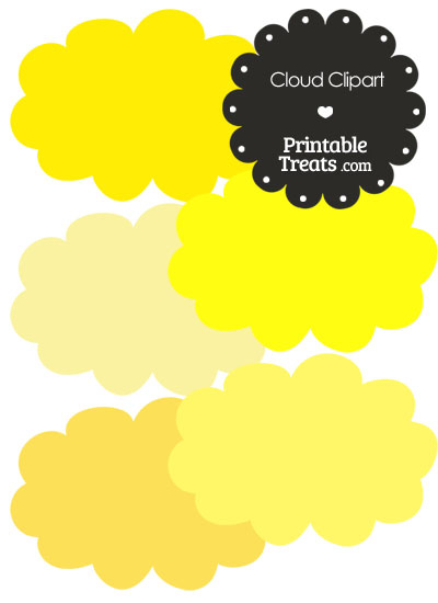Clouds clipart yellow Of in — com of